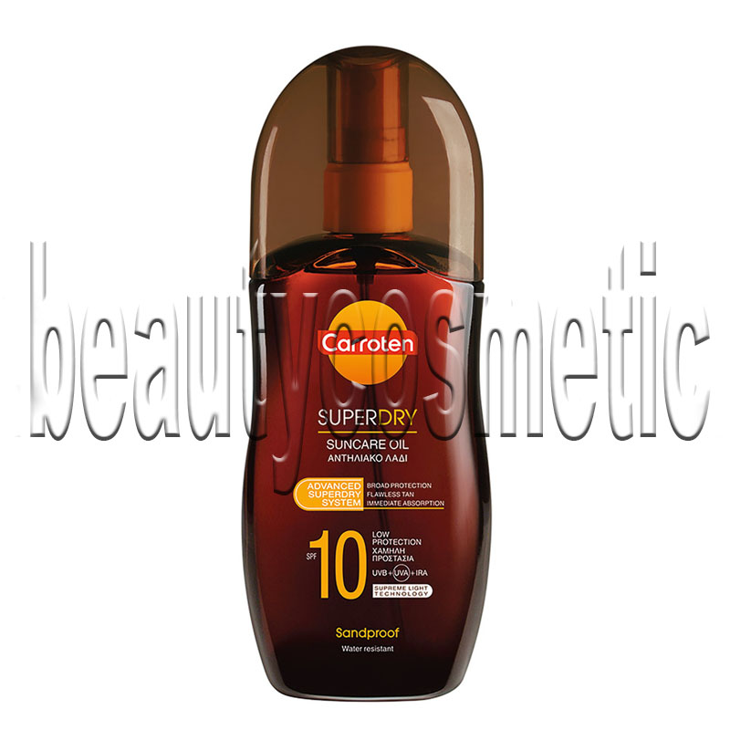 Carroten Super Dry SPF 10 tanning oil