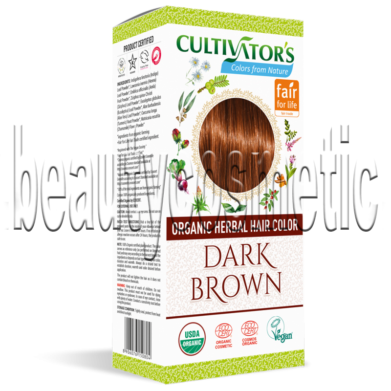 Cultivator's Био билкова боя за коса Dark brown