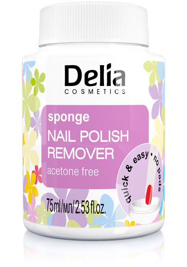 Delia nail polish remover sponge without acetone