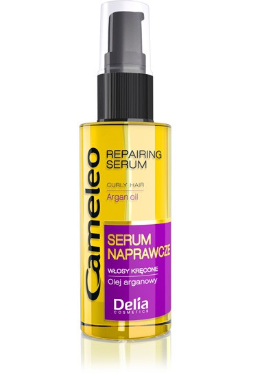 Delia Repairing Serum for curly and wavy hair with argan oil