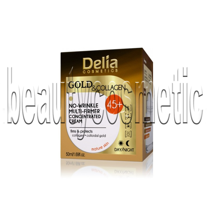 Delia Gold & Collagen Крем против бръчки 45+