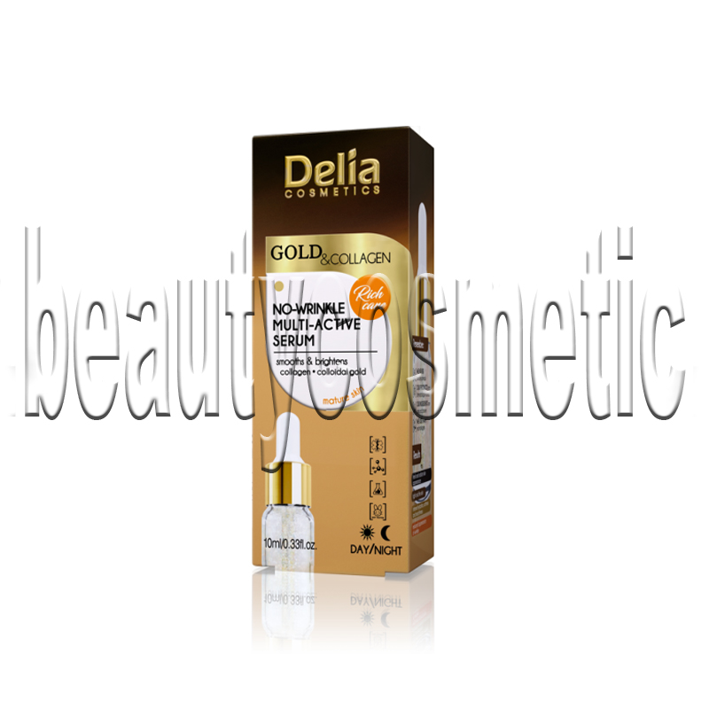 Delia Gold & Collagen No-Wrinkle мултиактивен серум против бръчки