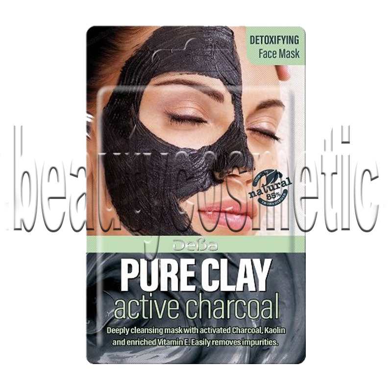 Deva Pure Clay Active Charcoal маска за лице 7ml