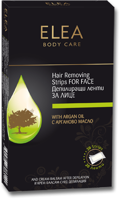Elea depilatory strips for the face with Argan oil