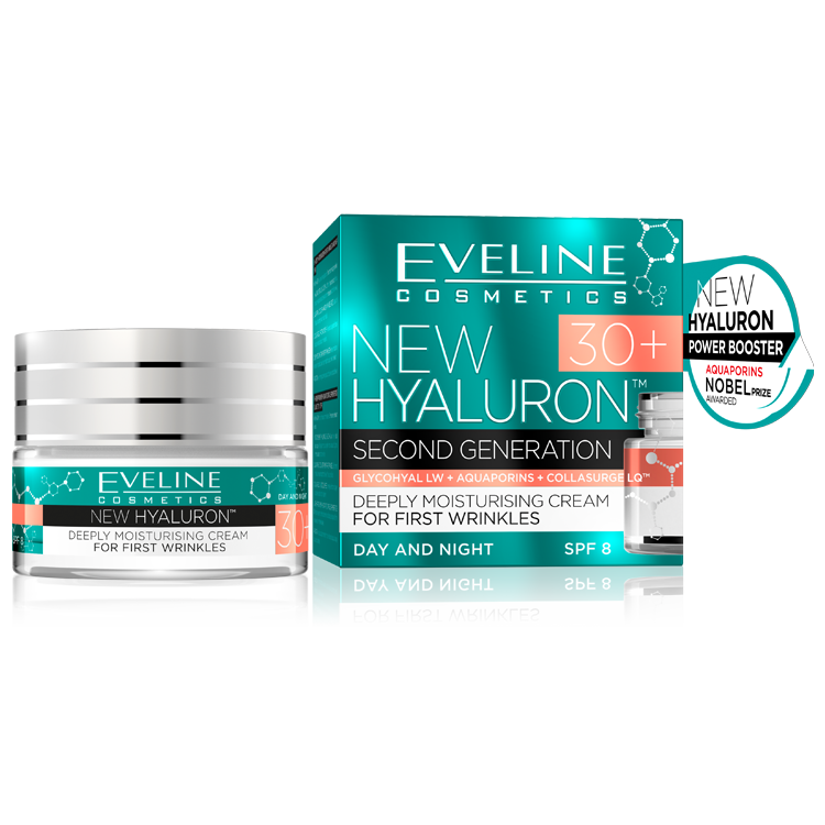 Eveline new hyaluron second generation концентриран крем 30+