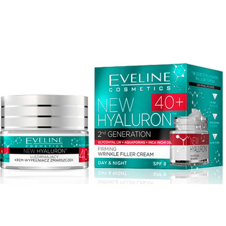 Eveline new hyaluron second generation концентриран крем 40+