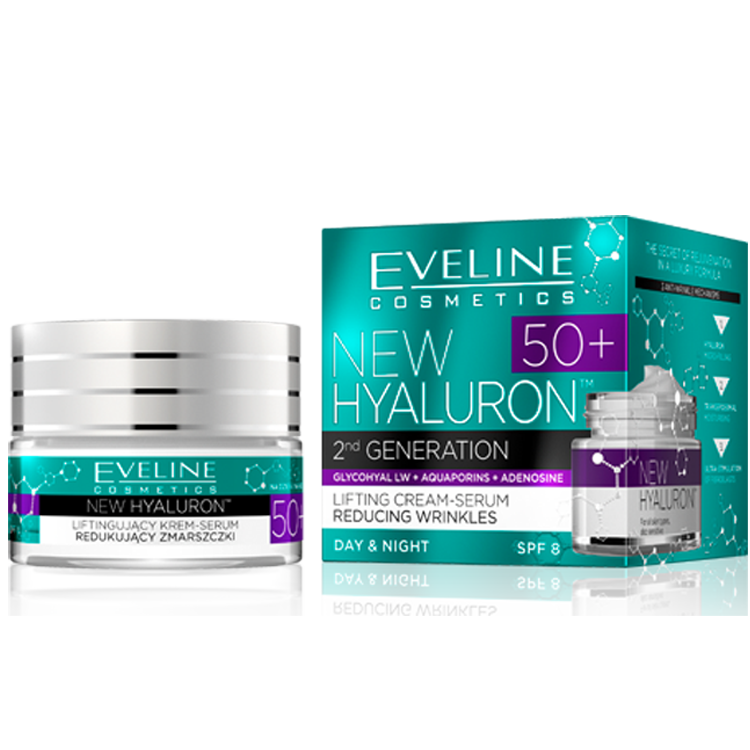 Eveline new hyaluron second generation концентриран крем 50+