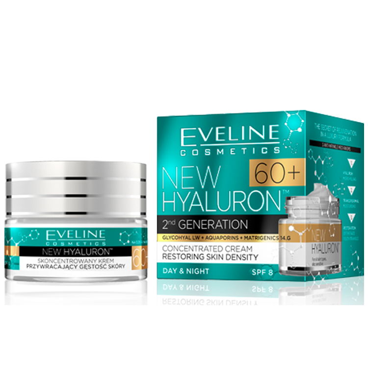 Eveline new hyaluron second generation концентриран крем 60+