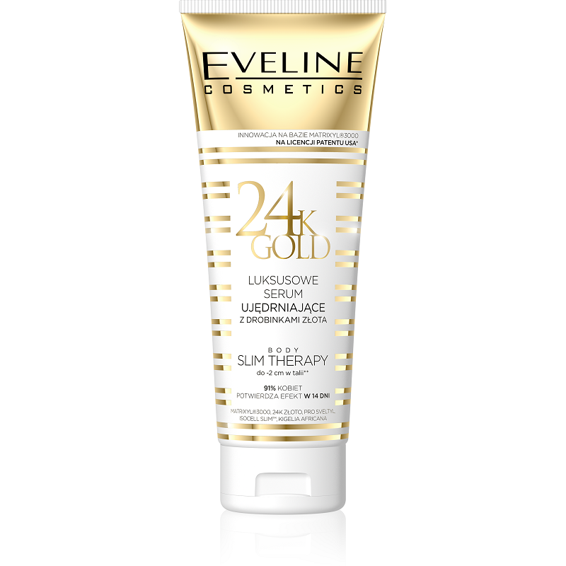Eveline 24K luxury slimming serum for body with gold particles
