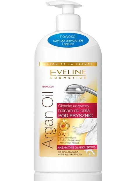 Eveline Argan oil Body Milk in shower for dry and sensitive skin