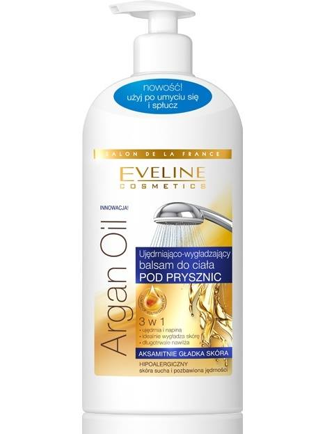 Eveline Argan oil Body Milk in shower firming and smoothing