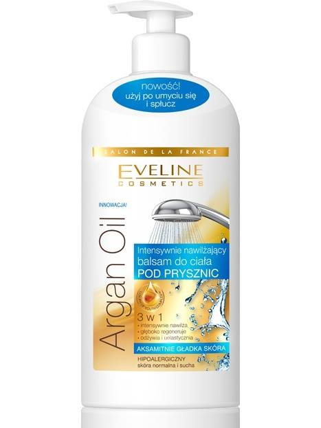 Eveline Argan oil Body Milk in shower for normal to dry skin