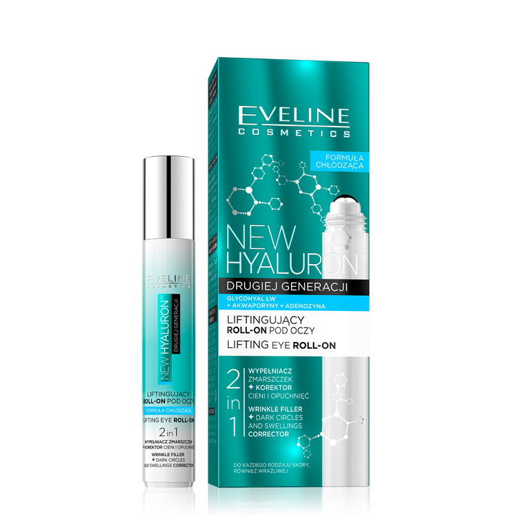 Eveline Bio Hyaluron 4D Roll-on lifting eye with cooling effect