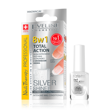 Eveline Total action 8 in 1 Silver заздравител за нокти