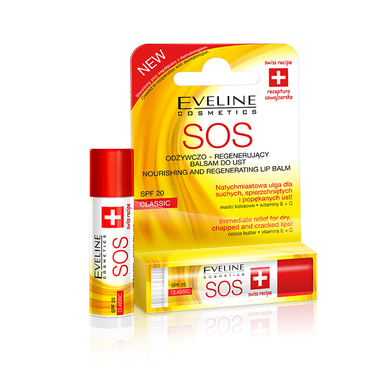 Eveline SOS nourishing and regenerating lip balm Classic