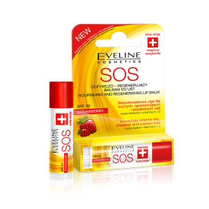 Eveline SOS nourishing and regenerating lip balm Strawberry