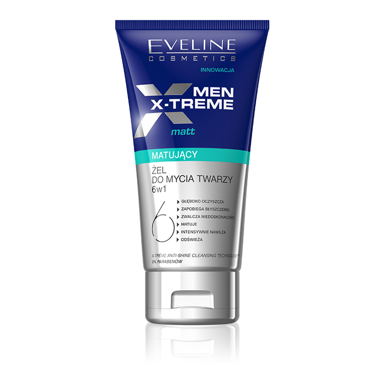 Eveline X-Treme Men Matting Face Gel 6 in 1