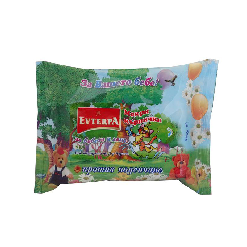 Evterpa Wipes for babies and children with marigold extract