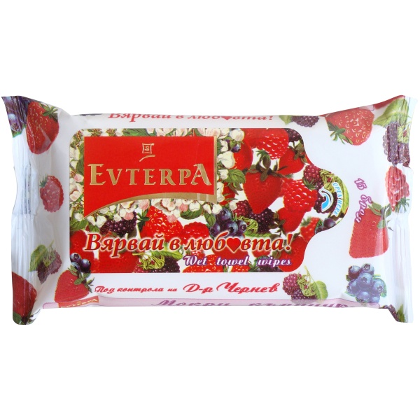 Evterpa Wet wipes with berry flavor