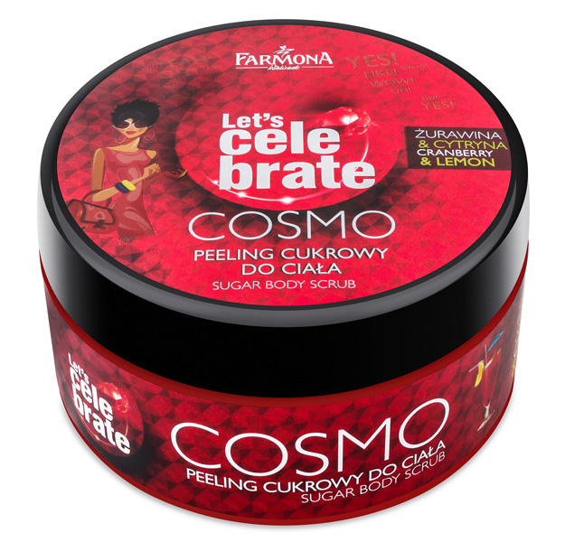 Let's celebrate Cosmo Cranberry and Lemon sugar body scrub