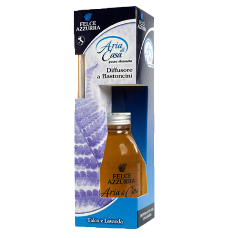 Felce Azzurra Talco Lavander Perfume for home with rattan sticks