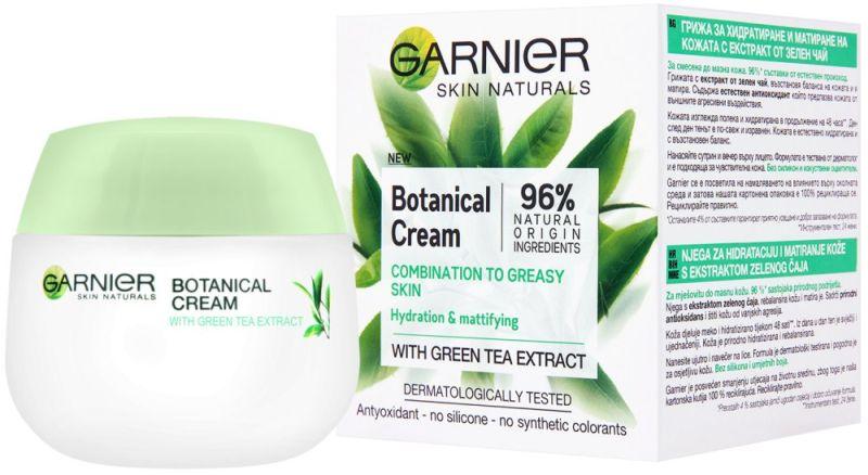 Garnier Botanical Face Cream With Green Tea For Combination To Oily