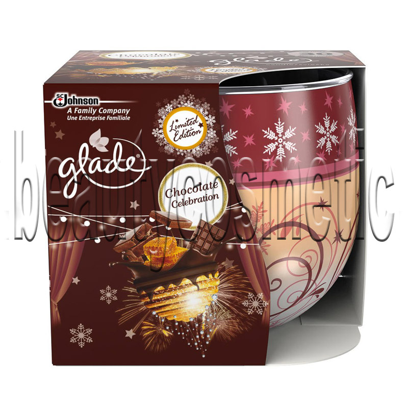 Glade Chocolate Celebration scented candle