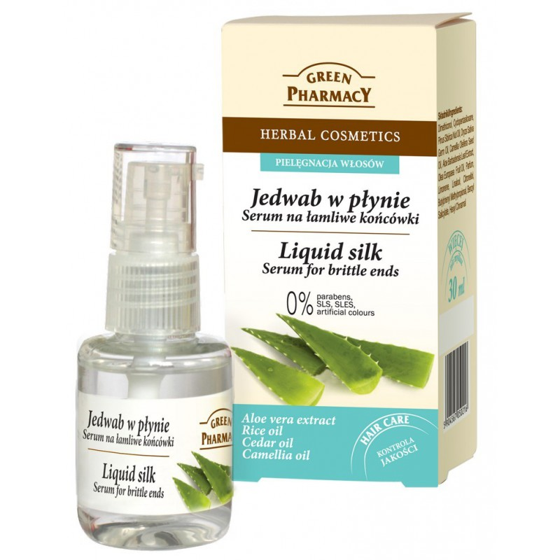 Green Pharmacy liquid Silk Serum for Brittle Ends