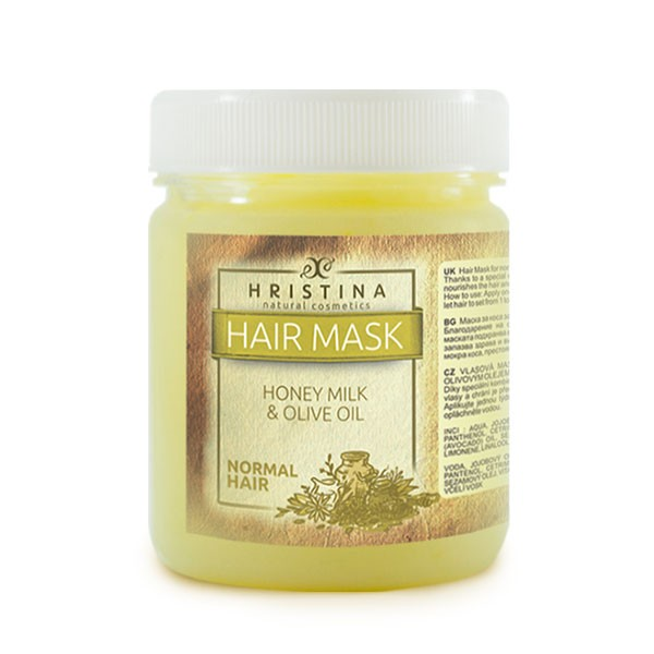 Hristina Hair mask for normal hair with Honey, Milk and Olive Oi