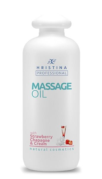 Hristina strawberry massage oil, champagne and cream