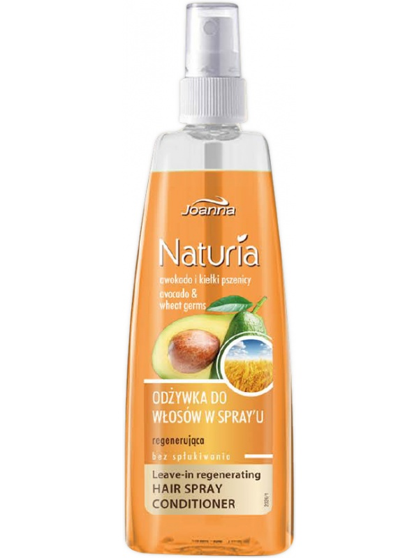 Joanna Naturia spray balm for damaged and weak hair with Avocado & Wheat