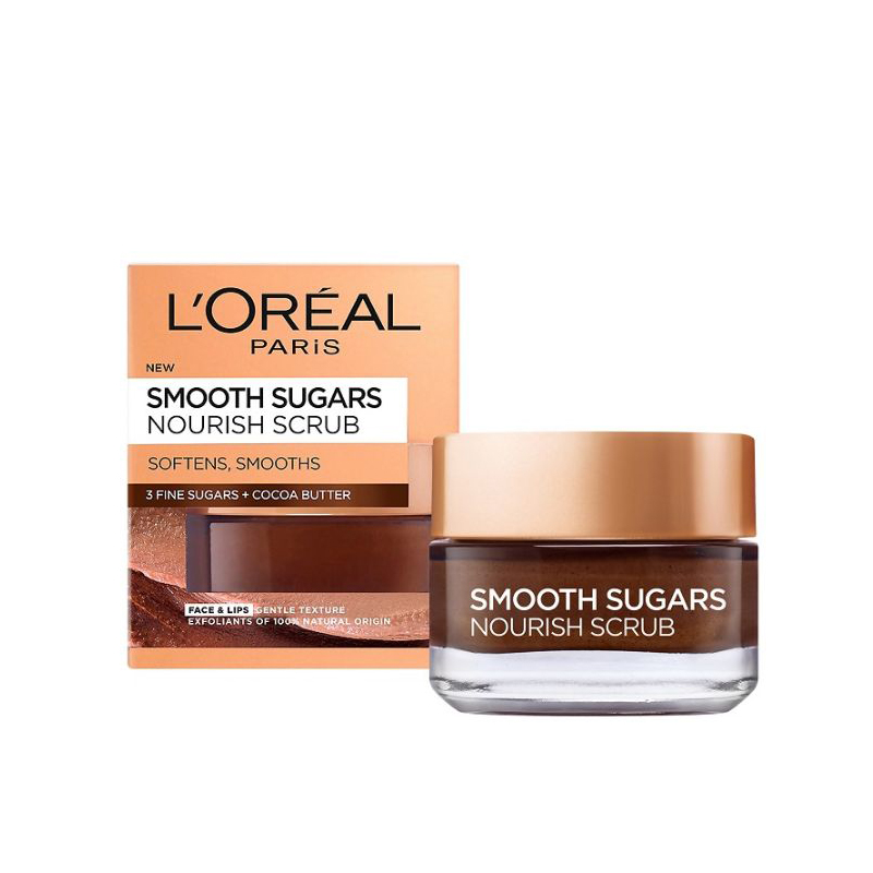 L'Oreal Smooth Sugars захарен скраб с подхранващо какаово масло