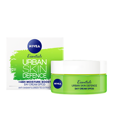 Nivea Urban Skin Defense day cream 48 hours hydration