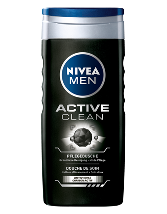 Nivea for men Active clean душ гел 500ml