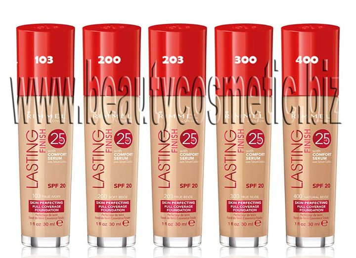 Rimmel Lasting Finish 25h фон дьо тен