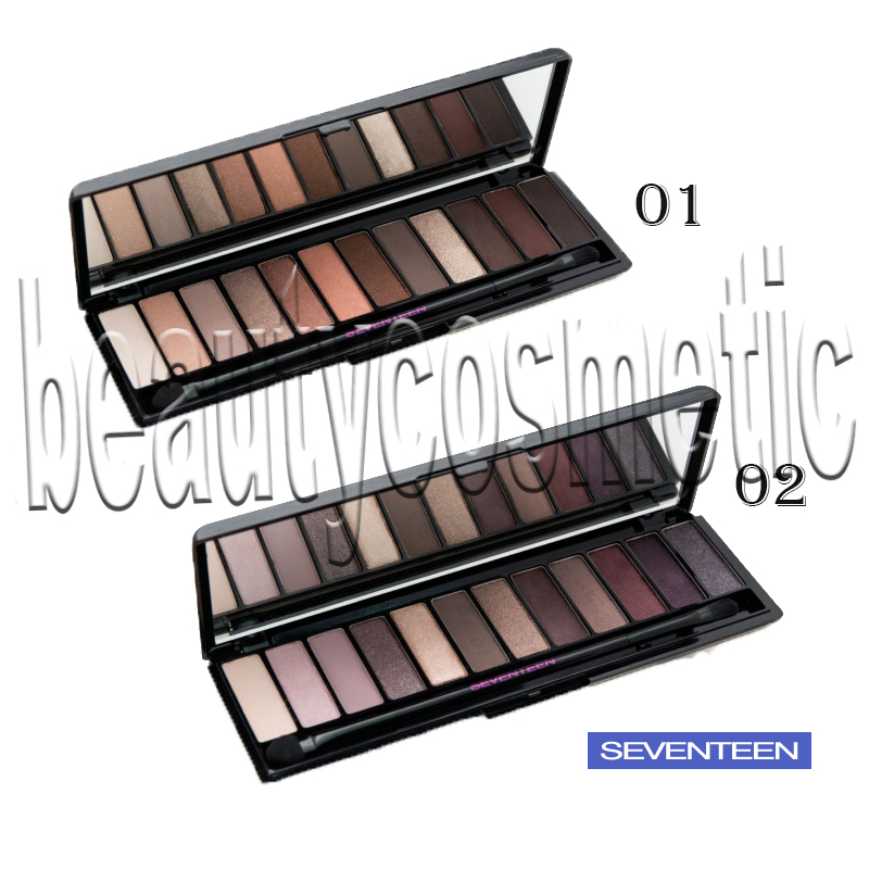 Seventeen The Shadow Collection palette eye shadows