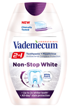 Vademecum 2 in1 Non Stop White паста за зъби