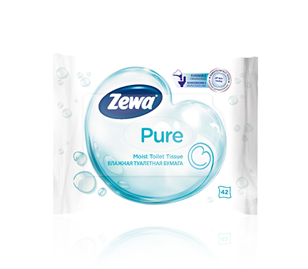 Zewa wet toilet paper Pure 42 pcs