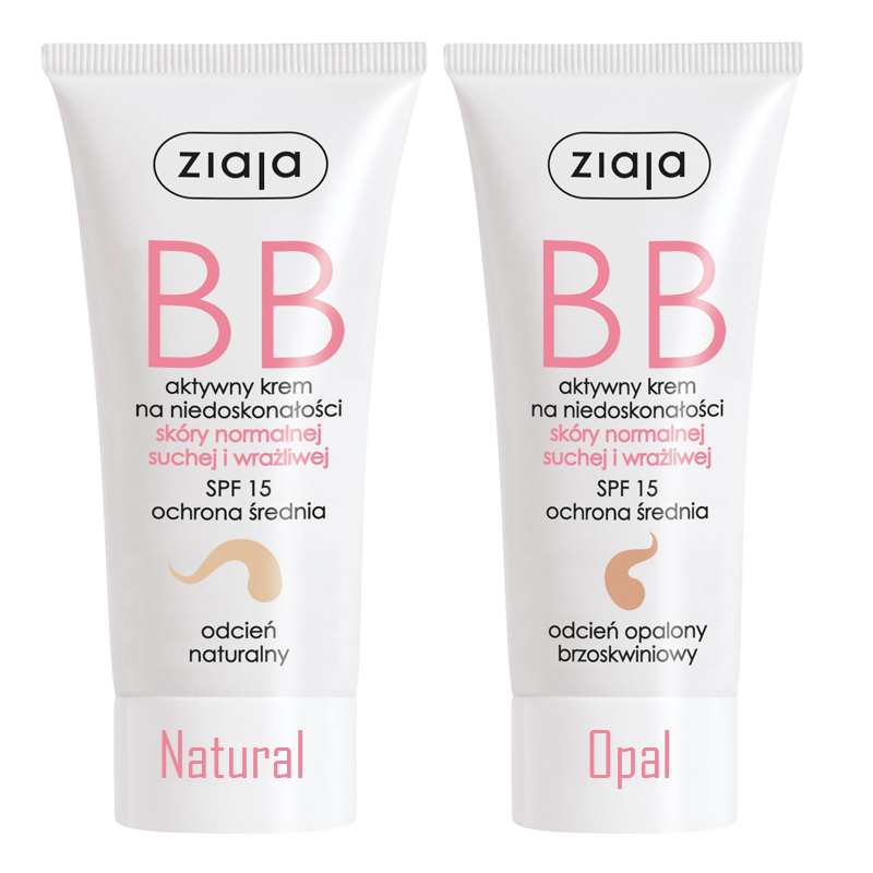 Ziaja BB cream for dry and sensitive skin SPF 15