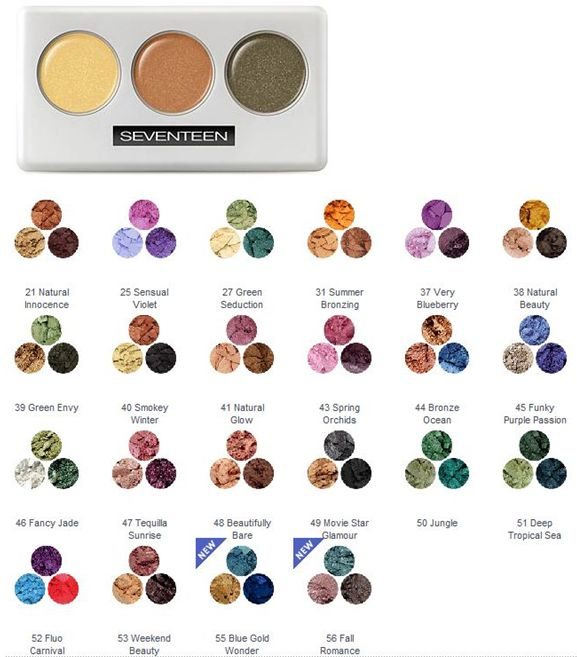 Seventeen trio eyeshadows