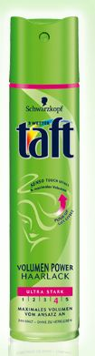 Taft volume power лак за коса