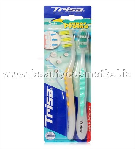 Trisa Pearl & White duo toothbrushes