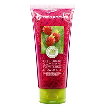 Yves Rocher Plaisirs Nature ексфолиращ душ гел Малина