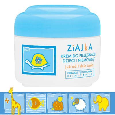 Ziajka nourishing cream for babies and children